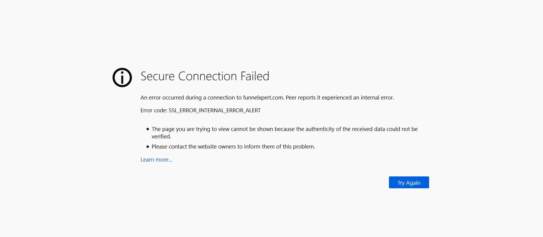 SSL_ERROR_INTERNAL_ERROR_ALERT